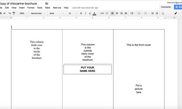 007 Tri Fold Template Google Docs Brochure Templates Luxury within Brochure Templates For Google Docs