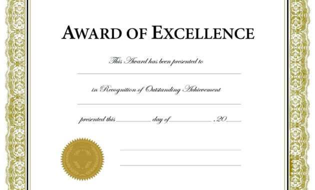 012 Certificate Of Achievement Template Word Free Printable with Blank Award Certificate Templates Word
