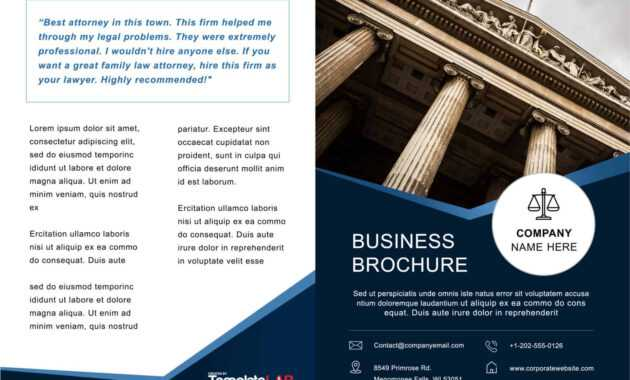 33 Free Brochure Templates (Word + Pdf) ᐅ Template Lab in One Page Brochure Template