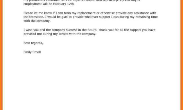 8+ Example Of Two Weeks Notice Letter   Inta Cf throughout Two Week Notice Template Word