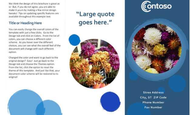 Blue Spheres Brochure within Office Word Brochure Template