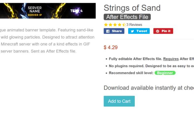Designer-Gfx - Strings Of Sand - [Hq] Minecraft Server intended for Minecraft Server Banner Template