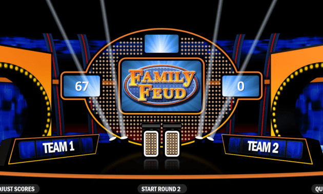 Family Feud   Rusnak Creative Free Powerpoint Games throughout Family Feud Powerpoint Template With Sound