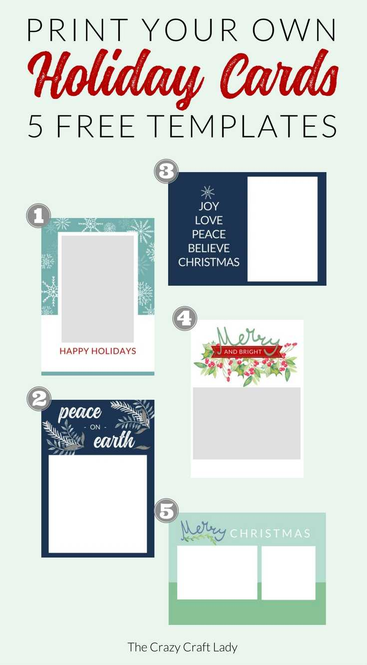 Free Christmas Card Templates - The Crazy Craft Lady With Regard To Template For Cards To Print Free