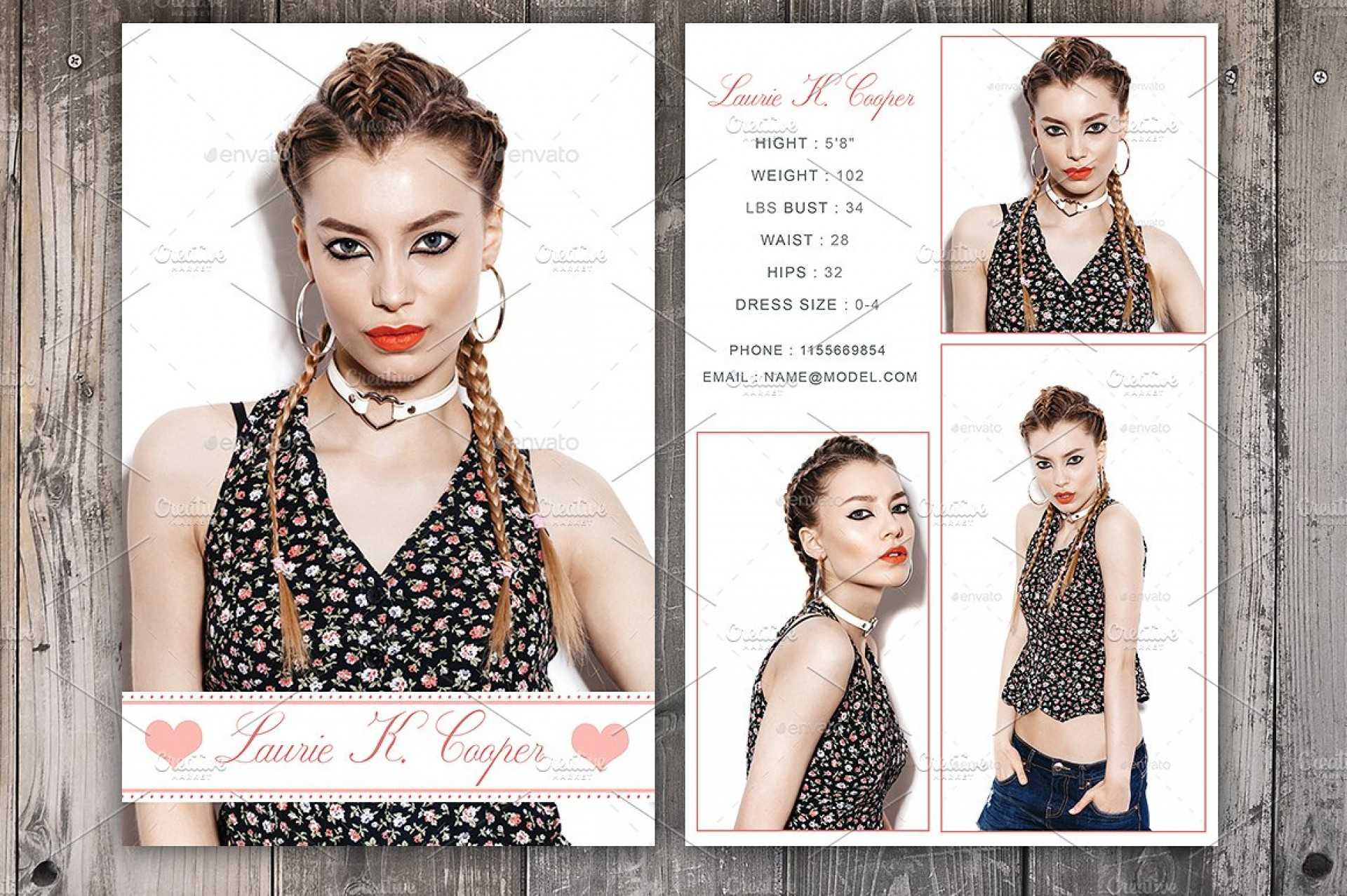 Free Model Comp Card Templates - C Punkt Throughout Comp Card Template Download
