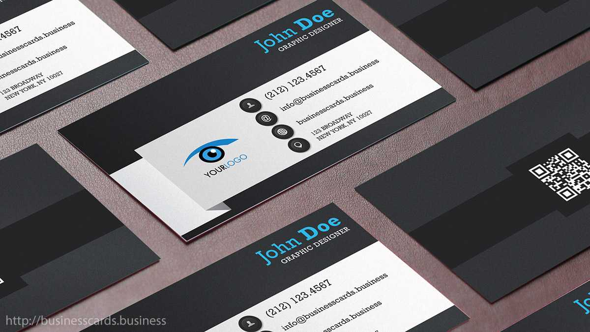 Free Qr Code Business Card Template : Business Cards Templates Regarding Qr Code Business Card Template