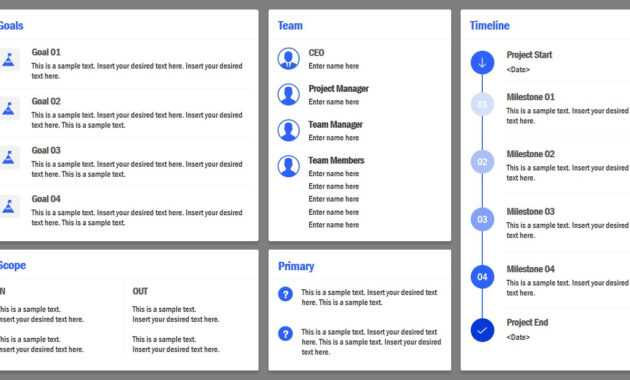 Project Charter Powerpoint Template in Team Charter Template Powerpoint