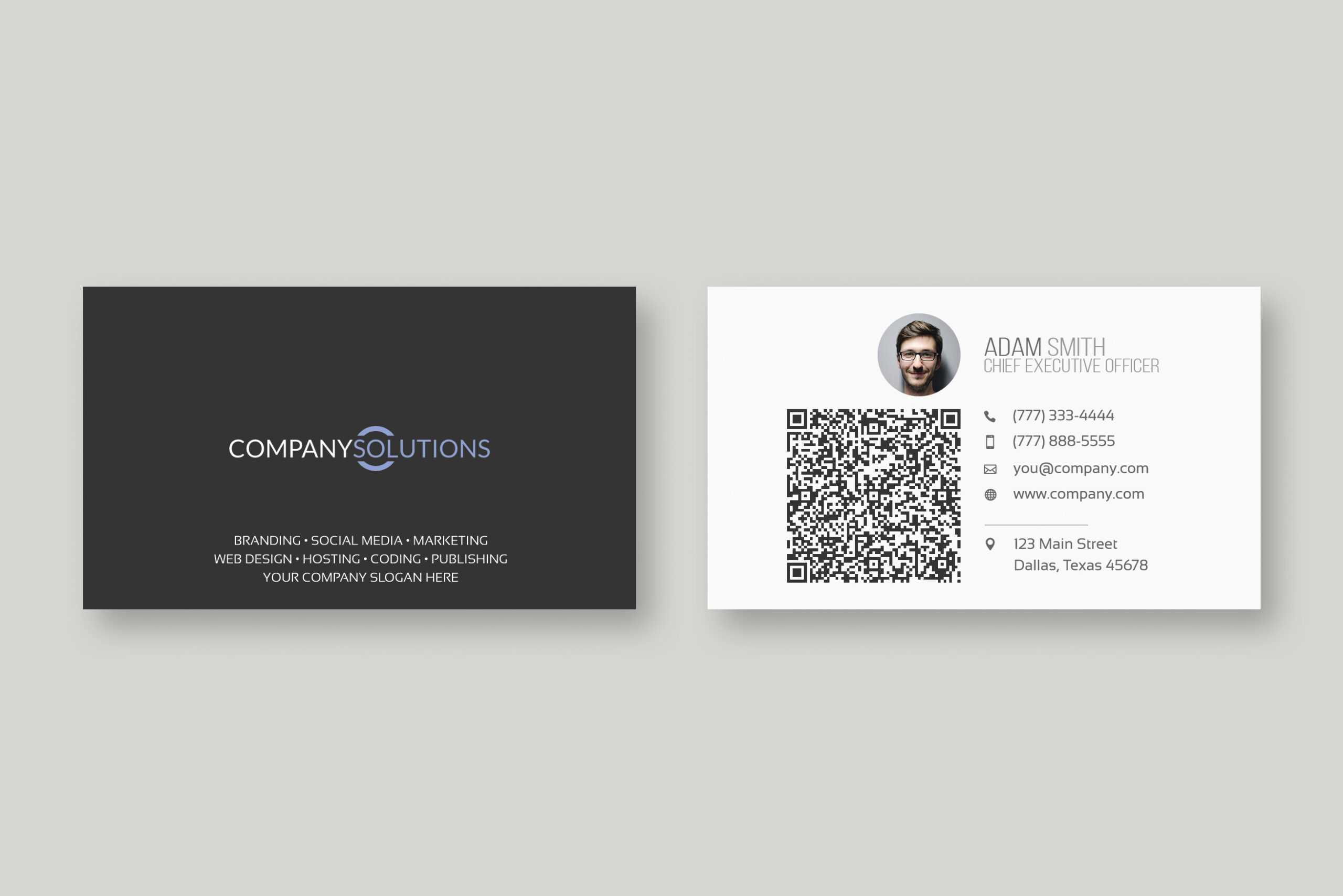 Qr Bussiness Card - Zohre.horizonconsulting.co Intended For Qr Code Business Card Template